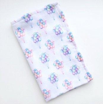 Муслиновая пеленка Embrace Маленькие воздушные шары 100х80 см
