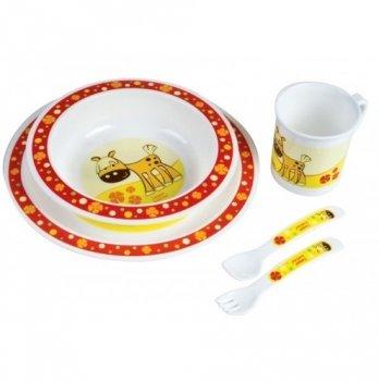 Набор детской посуды Canpol babies пластиковый, столовый, 5 предметов