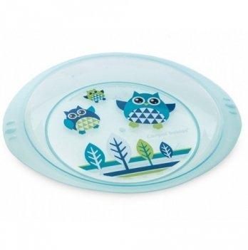 Детская тарелка Canpol babies Совы, пластиковая мелкая