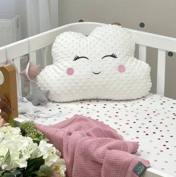 Декоративная подушка Маленькая соня Облако Minky Белый/Розовый 106103698