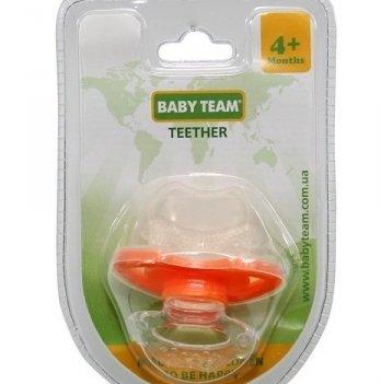 Прорезыватель Baby Team массажер-пустышка 4002 оранжевый
