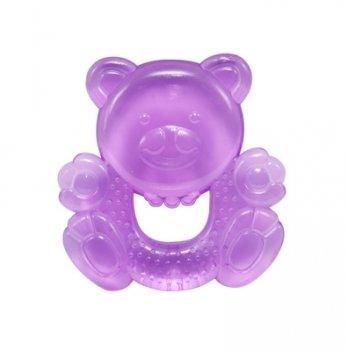 Прорезыватель с водой Baby Team 4004 Мишка фиолетовый