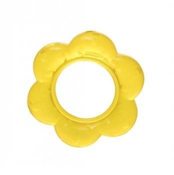 Прорезыватель с водой Baby Team 4005 желтый цветочек