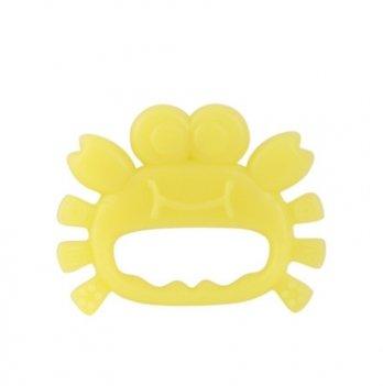 Прорезователь силиконовый Baby Team Морские жители 4008 желтый крабик