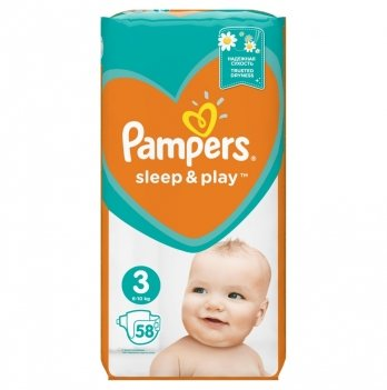 Подгузники Pampers Sleep & Play Размер 3 (Midi) 6-10 кг 58 шт