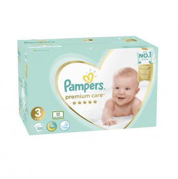 Подгузники Pampers Premium Care Размер 3 (Midi) 6-10 кг 120 шт