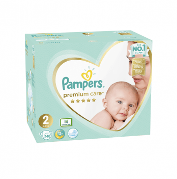 Подгузники Pampers Premium Care New Baby Размер 2 (Mini) 4-8 кг 148 шт