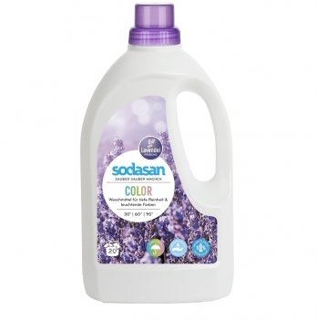 Органическое жидкое средство Sodasan Color Lavender, 1509, 1,5 л