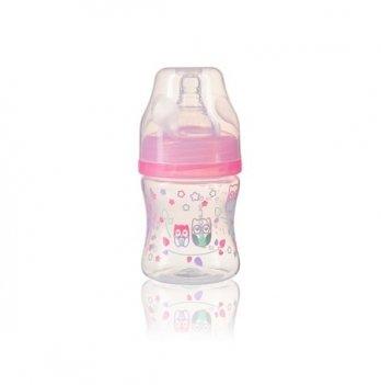 Антиколиковая бутылка с широким горлышком, BabyOno 120 мл, 402, розовая