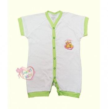 Песочник-комбинезон SWEET BABY Кроха, с зеленой окантовкой