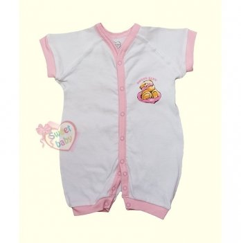 Песочник-комбинезон SWEET BABY Кроха, с розовой окантовкой