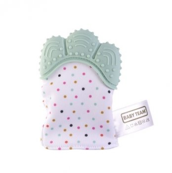 Прорезователь-перчатка Baby Team 4090 бирюзовый