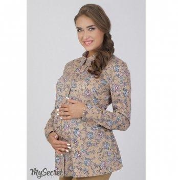 Рубашка для беременных и кормящих мам MySecret Noni BL-36.031 бежевый
