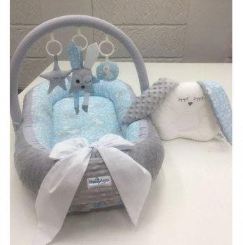 Кокон-гнездышко Happy Luna 0118 Babynest Plush Зайчик 5