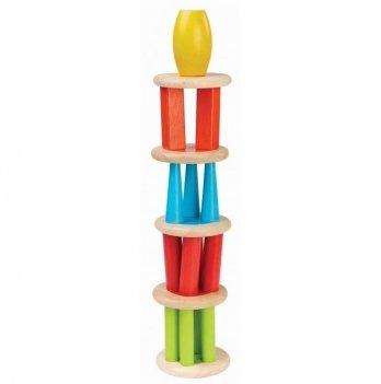 Деревянная игрушка PlanToys® Башня-пирамида