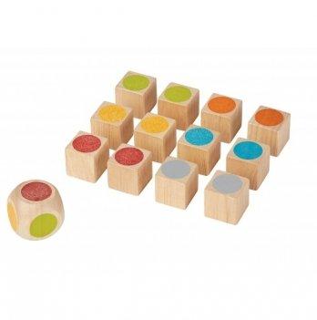 Деревянный набор PlanToys® Кубики для развития памяти