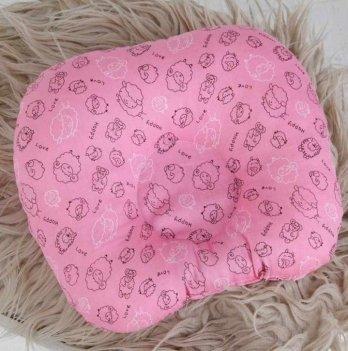 Детская подушка Magbaby для новорожденных Барашки малиновые