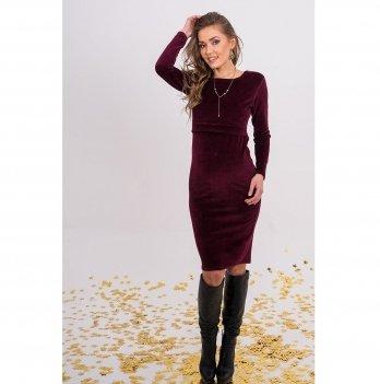 Платье для беременных и кормящих To Be Бордовый 4139027