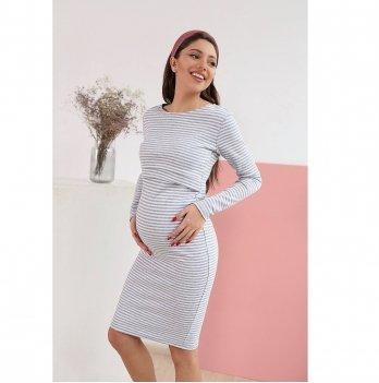 Платье для беременных и кормящих To Be Белый 4139070