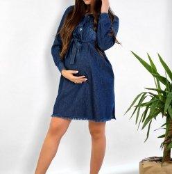 Платье для беременных и кормящих To Be Синий 4152414