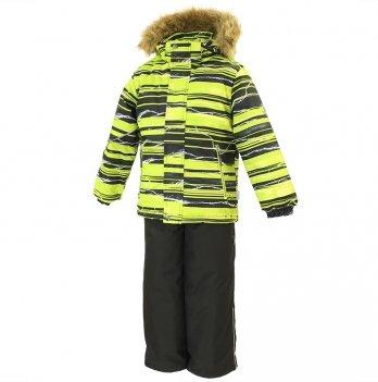 Зимний термокомплект для мальчика Huppa DANTE 1, желтый с черным