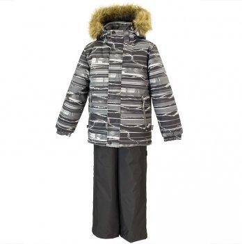 Зимний термокомплект для мальчика Huppa DANTE 1, серый