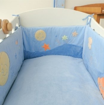 Защитный бортик в кроватку Kaloo голубой