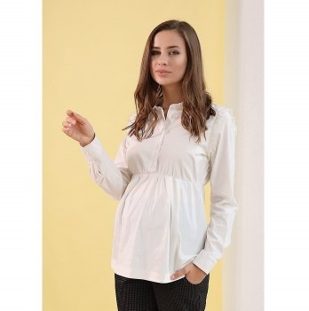 Блуза для беременных и кормящих To Be Цветочно-белый 4203065
