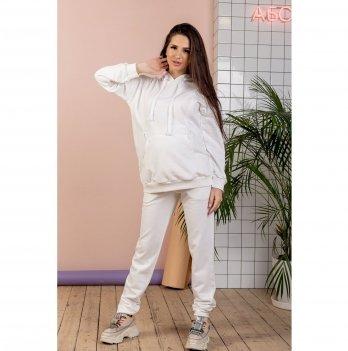 Спортивный костюм для беременных и кормящих To Be Белый 4218114