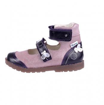 Туфли ортопедические кожаные Ortho Cyborg 2122-50 сиренево-черный