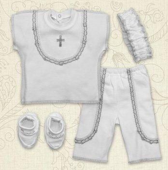 Костюм для Крещения,  Бетис Святковий, девочка, к.р., интерлок, белый