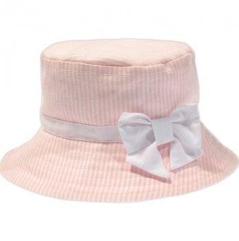 Панама для девочки Garden baby, персиковая полоска, 43100-40