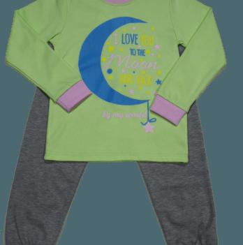 Пижама Мій Світ 43338-01 салатовая Месяц