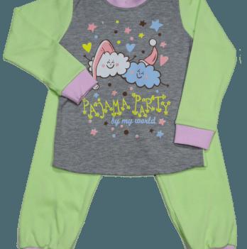 Пижама Мій Світ 43338-02 серо-салатовая Месяц