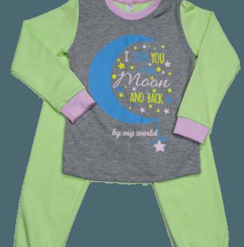 Пижама Мій Світ 43338-03 серо-салатовая Месяц