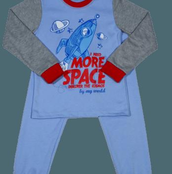 Пижама Мій Світ 43338-07 серо-голубая Ракета