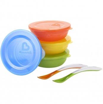 Набор посуды: миски с крышками 4 шт., ложки 2 шт., Munchkin