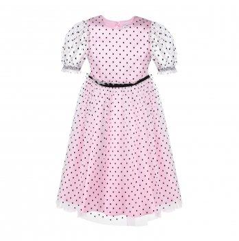 Детское платье ТМ Sasha Белый/Розовый 4429