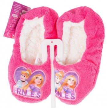 Тапочки мягкие Disney Принцессы розовые
