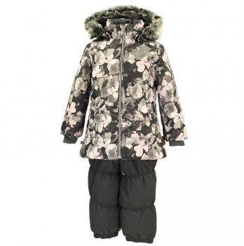 Зимний термокомплект для девочки Huppa NOVALLA, серый