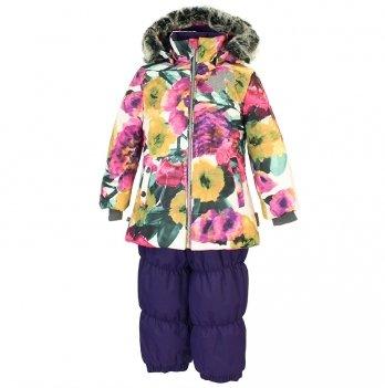 Зимний термокомплект для девочки Huppa NOVALLA, белый/фиолетовый