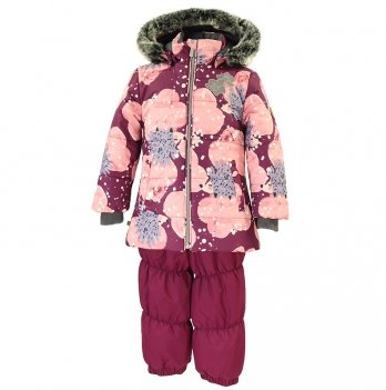 Зимний термокомплект для девочки Huppa NOVALLA, бордовый