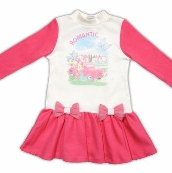 Платье Garden baby, молочно-малиновое