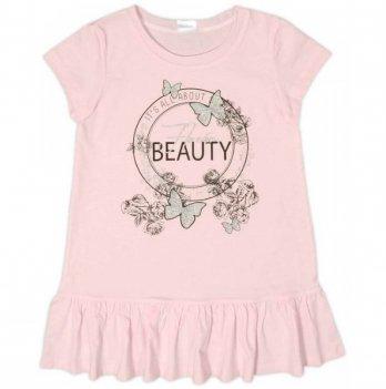 Платье трикотажное Garden baby для девочки, розовое, 45070-03