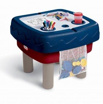 Песочница-стол 2 в 1, Little Tikes, ИГРАЕМ И РИСУЕМ (для песка и воды, с аксессуарами)