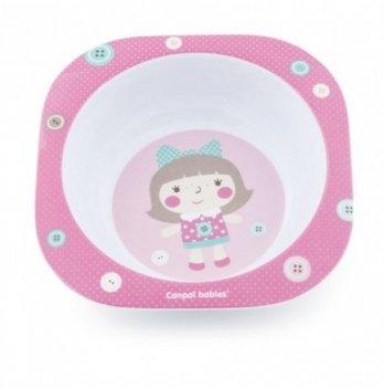 Тарелка из меламина Canpol babies Toys, розовая