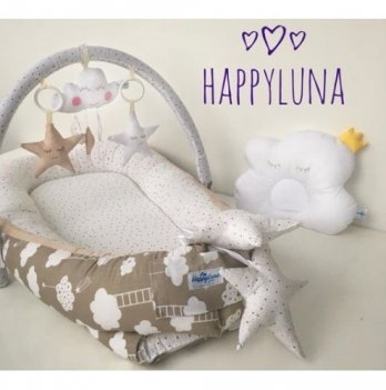 Кокон-гнездышко Happy Luna 0134 Babynest Standart Тучка