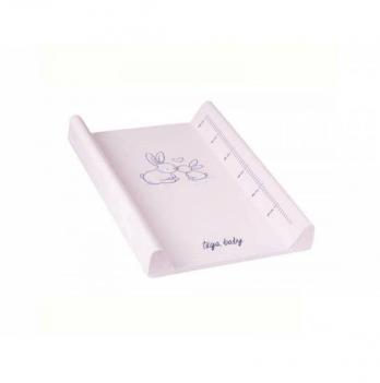 Пеленальный матрас Tega baby Зайчики, 50х70 см, светло-розовый