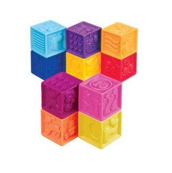 Развивающие силиконовые кубики Battat, Посчитай-ка