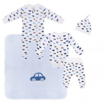 Набор одежды для новорожденных Sasha Машинки Голубой 4597/20